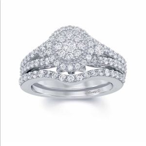 Enchanted disney white gold engagement ring